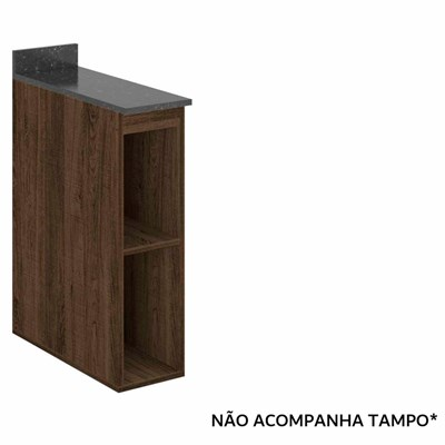 Balcão Nicho 20cm Kali Premium 3105 sem Tampo Amêndoa Rústico - Nicioli