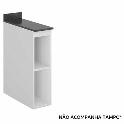 Balcão Nicho 20cm Kali Premium 3105 sem Tampo Branco - Nicioli