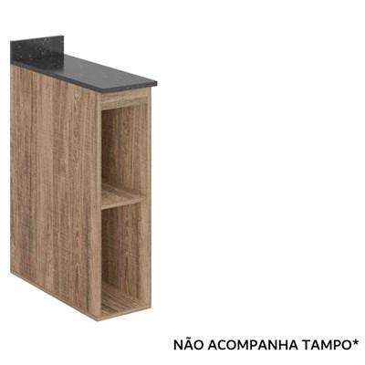 Balcão Nicho 20cm Kali Premium 3105 sem Tampo Carvalho Rústico - Nicioli