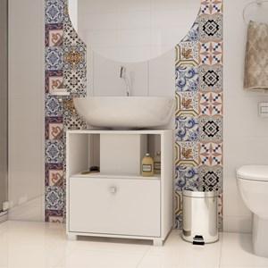 Balcão para Banheiro 01 Porta BBN 02 Branco - BRV