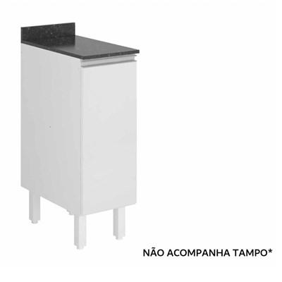 Balcão sem Tampo  30cm 1 Porta Kali Premium 3101.16 Branco - Nicioli