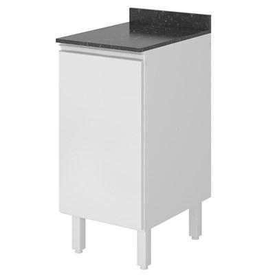 Balcão sem Tampo 40cm 1 Porta 100% MDF Kali Premium 3081.16 Branco - Nicioli