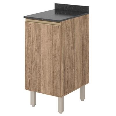 Balcão sem Tampo 40cm 1 Porta 100% MDF Kali Premium 3081.16 Carvalho Rústico - Nicioli
