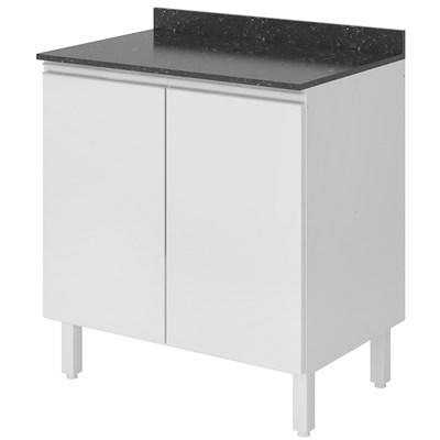 Balcão sem Tampo 60cm 2 Portas 100% MDF Kali Premium 3085.16 Branco - Nicioli