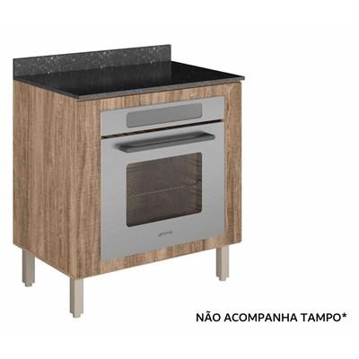 Balcão sem Tampo para Forno de Embutir 80cm Kali Premium 3102.16 Carvalho Rústico - Nicioli