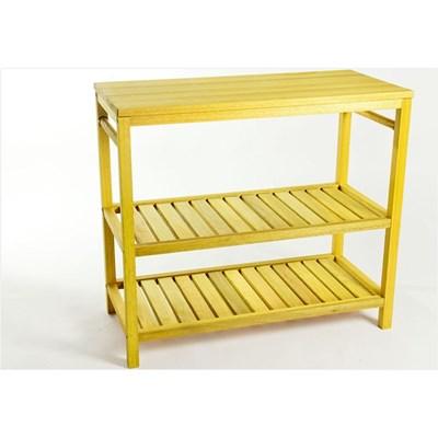 Bancada com 02 Toalheiros  Aquiles Stain Amarelo - Mão & Formão
