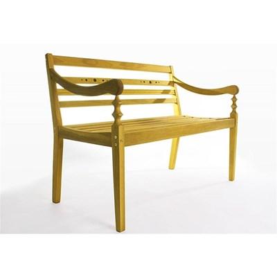 Banco 3 Lugares Varanda Stain Amarelo - Mão & Formão