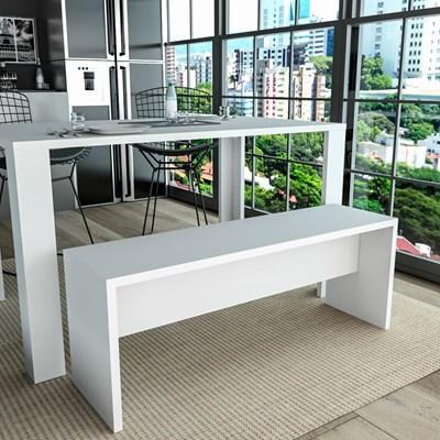 Banco para Mesa de Jantar 115cm MDP Liv 3600 Branco - Appunto