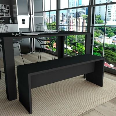 Banco para Mesa de Jantar 115cm MDP Liv 3600 Preto - Appunto