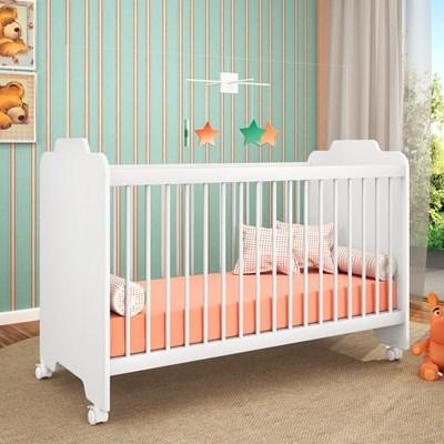 Berço com Rodízios Ternura Branco - PN Baby