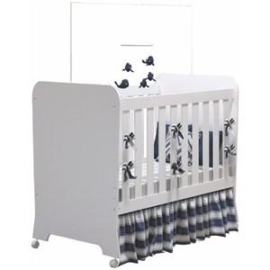 Berço Mini Cama Carícia com Rodízios Branco - Móveis Estrela