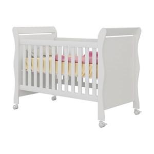 Berço que Vira Mini Cama com Rodízios Colonial Baby Amore Branco - Qmovi