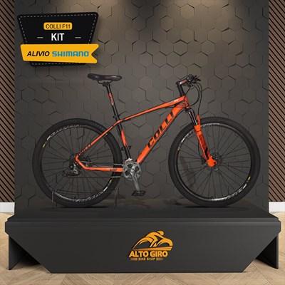 Bicicleta Aro 29 Quadro 17 Alumínio Freio Hidráulico 27v Shimano Alívio F11 Laranja - Colli Bike