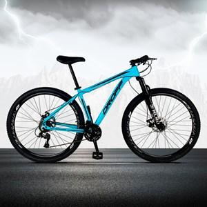 Bicicleta Aro 29 Quadro 21 Alumínio 21 Marchas Freio a Disco Mecânico Azul/Preto - Dropp