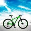 Bicicleta Aro 29 Quadro 21 Alumínio 21v com Suspensão e Freio Disco Orion Verde/Preto - Spaceline