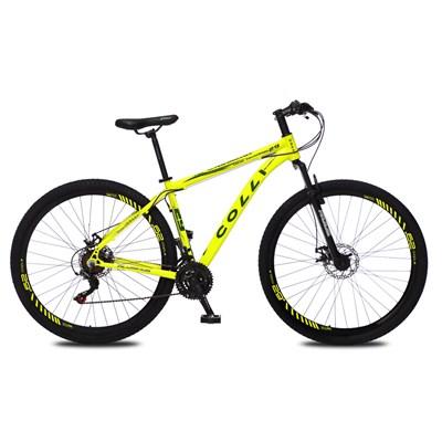 Bicicleta Atalanta Aro 29 Alumínio 21v Câmbio Tras. Shimano Freio Mecânico Amarelo Neon - Colli Bike