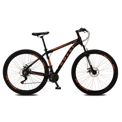 Bicicleta Atalanta Aro 29 Alumínio 21v Câmbio Tras Shimano Freio Mecânico Preto/Laranja - Colli Bike