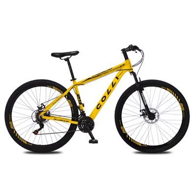 Bicicleta Atalanta Aro 29 Alumínio 21v Câmbio Traseiro Shimano Freio Mecânico Amarelo - Colli Bike