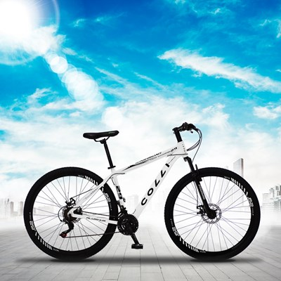 Bicicleta Atalanta Aro 29 Alumínio 21v Câmbio Traseiro Shimano Freio Mecânico Branco - Colli Bike