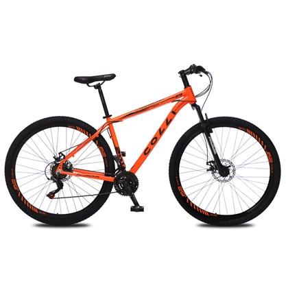Bicicleta Atalanta Aro 29 Alumínio 21v Câmbio Traseiro Shimano Freio Mecânico Laranja - Colli Bike