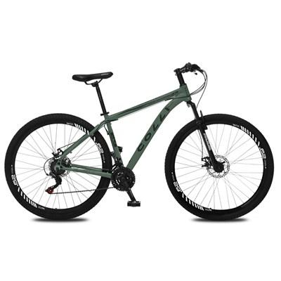 Bicicleta Atalanta Aro 29 Alumínio 21v Câmbio Traseiro Shimano Freio Mecânico Verde - Colli Bike