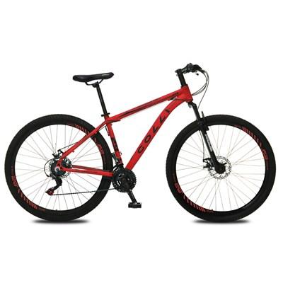 Bicicleta Atalanta Aro 29 Alumínio 21v Câmbio Traseiro Shimano Freio Mecânico Vermelho - Colli Bike