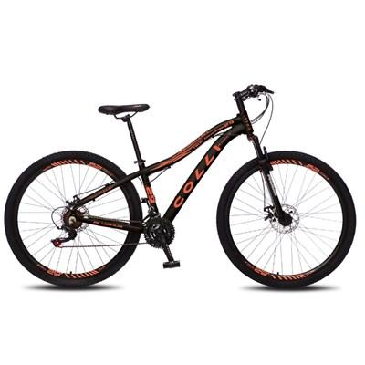Bicicleta Euphora Aro 29 Alumínio 21v Câmbio Tras. Shimano Freio Mecânico Preto/Laranja - Colli Bike