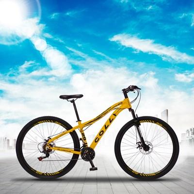 Bicicleta Euphora Aro 29 Alumínio 21v Câmbio Traseiro Shimano Freio Mecânico Amarelo - Colli Bike