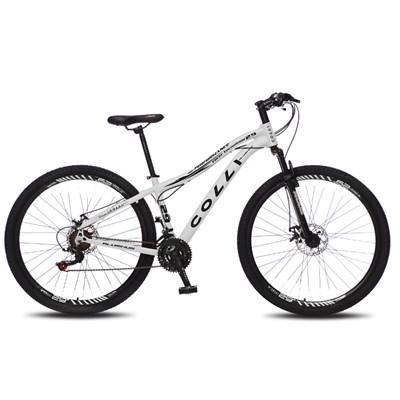 Bicicleta Euphora Aro 29 Alumínio 21v Câmbio Traseiro Shimano Freio Mecânico Branco - Colli Bike