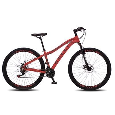 Bicicleta Euphora Aro 29 Alumínio 21v Câmbio Traseiro Shimano Freio Mecânico Vermelho - Colli Bike