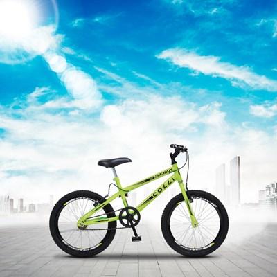 Bicicleta Max Boy Infantil Juvenil Aro 20 Aço Freio V-Brake Amarelo Neon - Colli Bike
