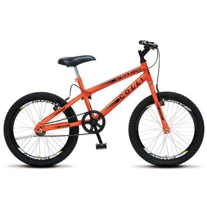 Bicicleta Max Boy Infantil Juvenil Aro 20 Aço Freio V-Brake Laranja Neon - Colli Bike