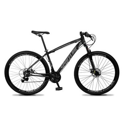 Bicicleta MTB Aro 29 Quadro 15 Alumínio 21 Marchas Freio Mecânico Vega Preto/Cinza - Spaceline