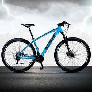 Bicicleta XLT Aro 29 Quadro 17 Alumínio 21 Marchas Suspensão Freio Disco Azul/Preto - KSW