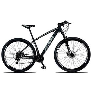 Bicicleta XLT Aro 29 Quadro 17 Alumínio 21 Marchas Suspensão Freio Disco Preto/Cinza - KSW