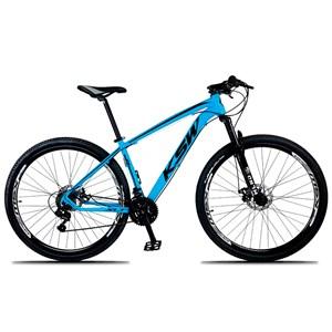 Bicicleta XLT Aro 29 Quadro 21 Alumínio 21 Marchas Suspensão Freio Disco Azul/Preto - KSW