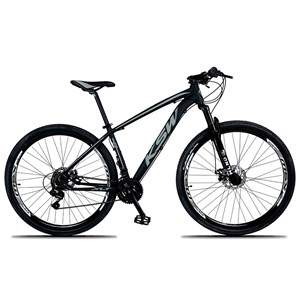 Bicicleta XLT Aro 29 Quadro 21 Alumínio 21 Marchas Suspensão Freio Disco Preto/Cinza - KSW