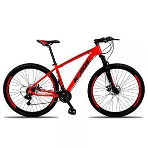 Bicicleta XLT Aro 29 Quadro 21 Alumínio 21 Marchas Suspensão Freio Disco Vermelho/Preto - KSW