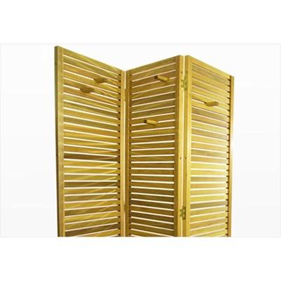 Biombo de Madeira Dominoes Stain Amarelo - Mão & Formão