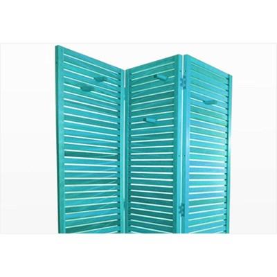 Biombo de Madeira Dominoes Stain Azul - Mão & Formão