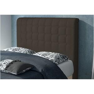 Cabeceira Califórnia para Cama Casal Box 160 cm Suede Amassado Chocolate - JS Móveis