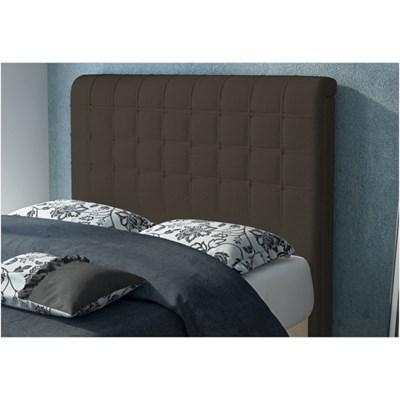 Cabeceira Califórnia para Cama Casal Box 195 cm Suede Amassado Chocolate - JS Móveis