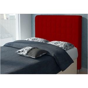 Cabeceira Califórnia para Cama Casal Box 195 cm Suede Amassado Vermelho - JS Móveis