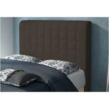 Cabeceira Califórnia para Cama Solteiro Box 90cm Suede Amassado Chocolate - JS Móveis