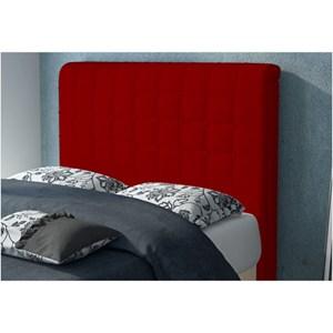 Cabeceira Califórnia para Cama Solteiro Box 90cm  Suede Amassado Vermelho - JS Móveis