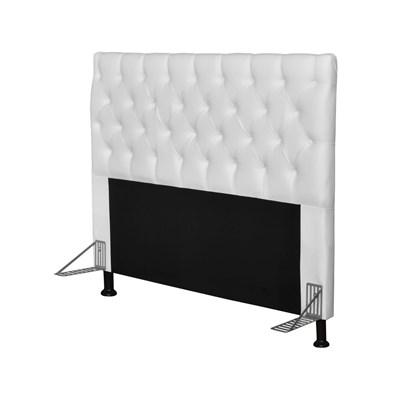 Cabeceira Cama Box Casal 140cm Cristal Corano Branco - JS Móveis