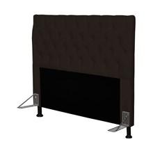 Cabeceira Cama Box Casal 140cm Cristal Corino Marrom - JS Móveis