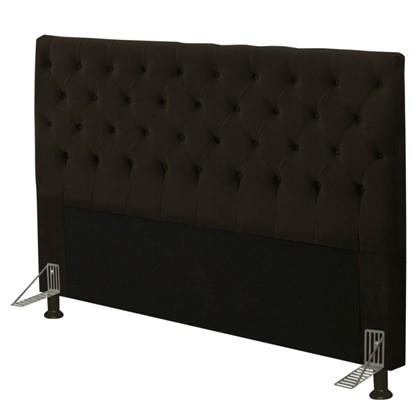 Cabeceira Cama Box Casal 140cm Cristal Suede Chocolate - JS Móveis