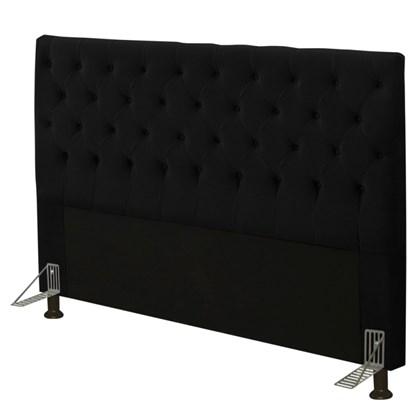 Cabeceira Cama Box Casal 140cm Cristal Suede Preto - JS Móveis