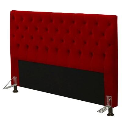 Cabeceira Cama Box Casal 140cm Cristal Suede Vermelho - JS Móveis